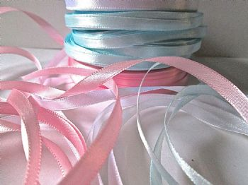 25 yards  (22.86 metres) of 6mm satin Ribbon choice of colour